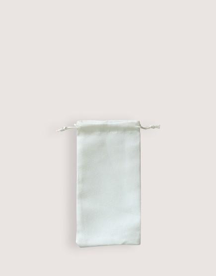 仿麂皮絨布束口袋│白色│包裝袋│禮物袋