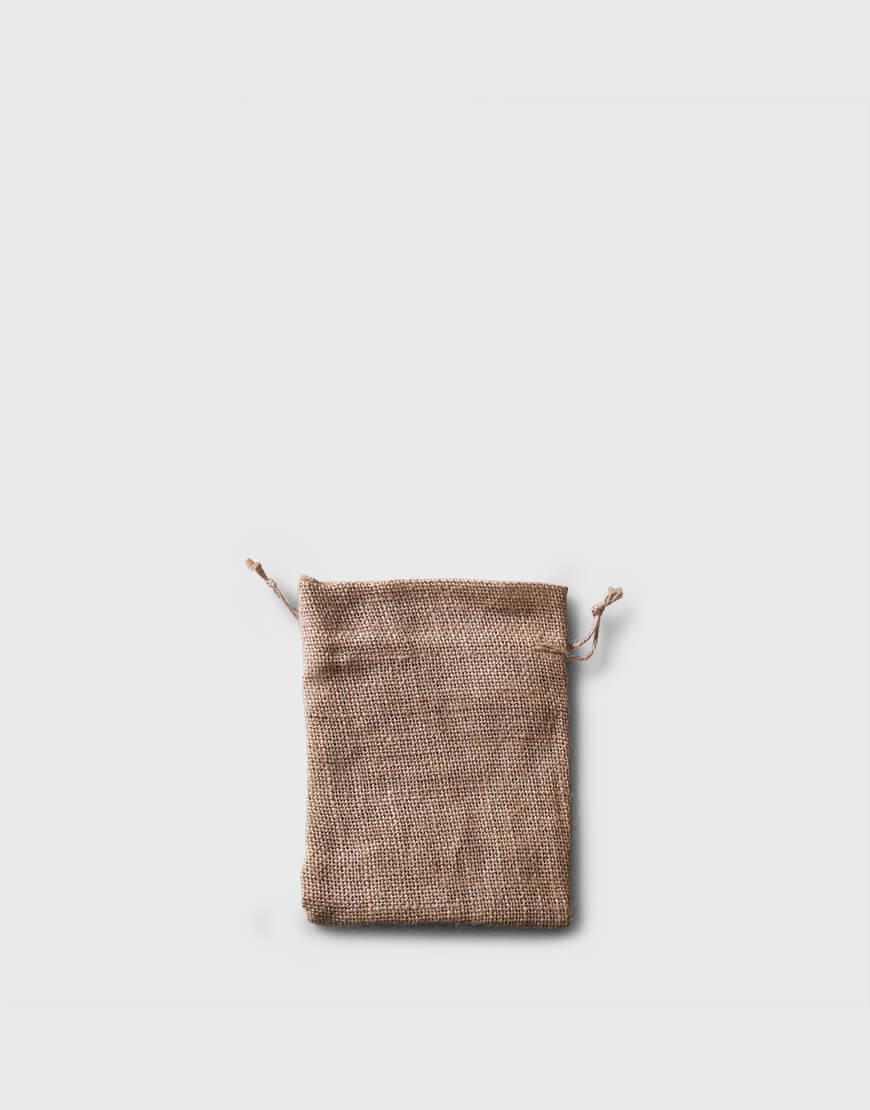 | 缺貨 | 黃粗麻布束口袋 - 迷你