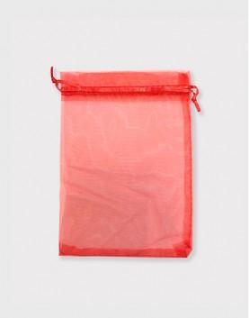 雪紗袋│包裝束口袋│禮物袋│紅色