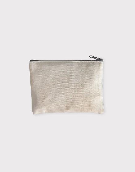 帆布零錢包 | 零錢袋 | 黑色拉鍊款