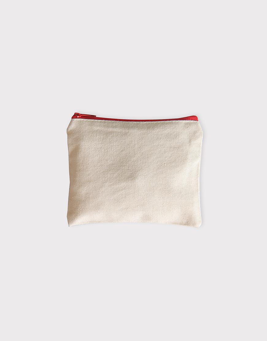 帆布零錢包   零錢袋   紅色拉鍊款