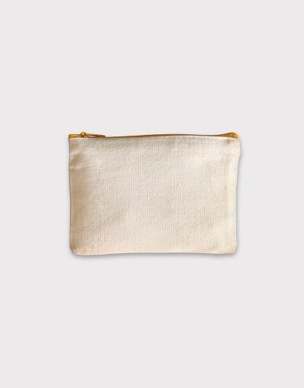 帆布零錢包 | 零錢袋 | 黃色拉鍊款
