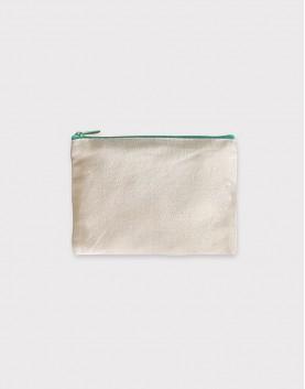 帆布零錢包 | 零錢袋 | 綠色拉鍊款