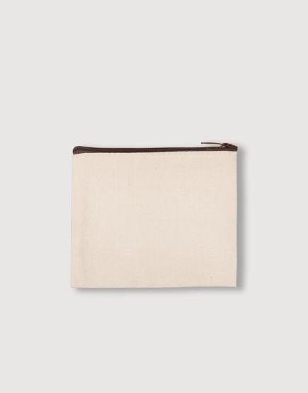帆布零錢包 | 零錢袋 | 咖啡色拉鍊款