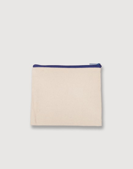 帆布零錢包 | 零錢袋 | 藍色拉鍊款