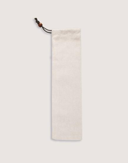 棉麻單抽筷袋 束口袋 餐具袋