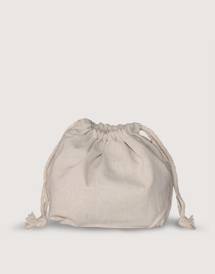 棉麻束口便當袋│收納袋│底部加大│可印圖