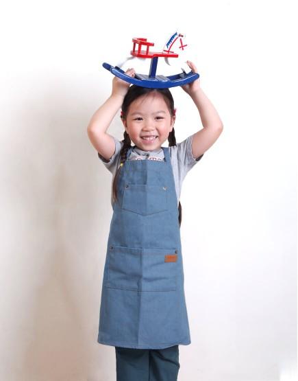 客製圍裙印圖   兒童款 全棉牛仔圍裙 三色