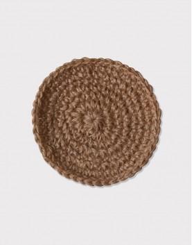 棉麻編織│杯墊│圓形款