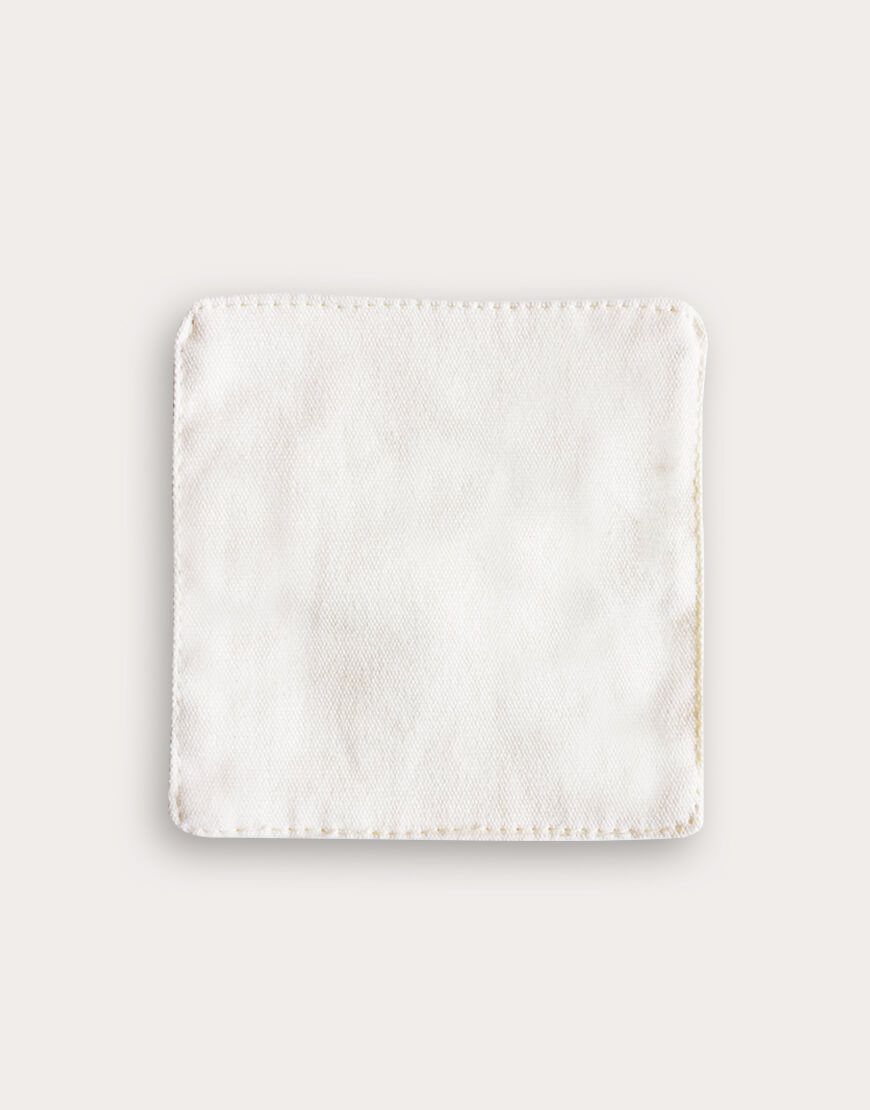 帆布材質│杯墊│米色
