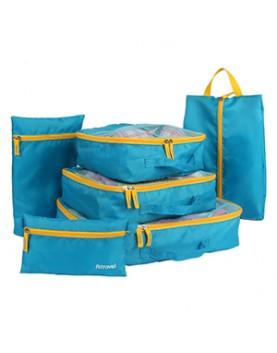 藍色6件組 旅行收納袋分類整理包