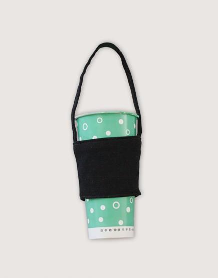 飲料提袋 | 12N雙層帆布 | 黑色