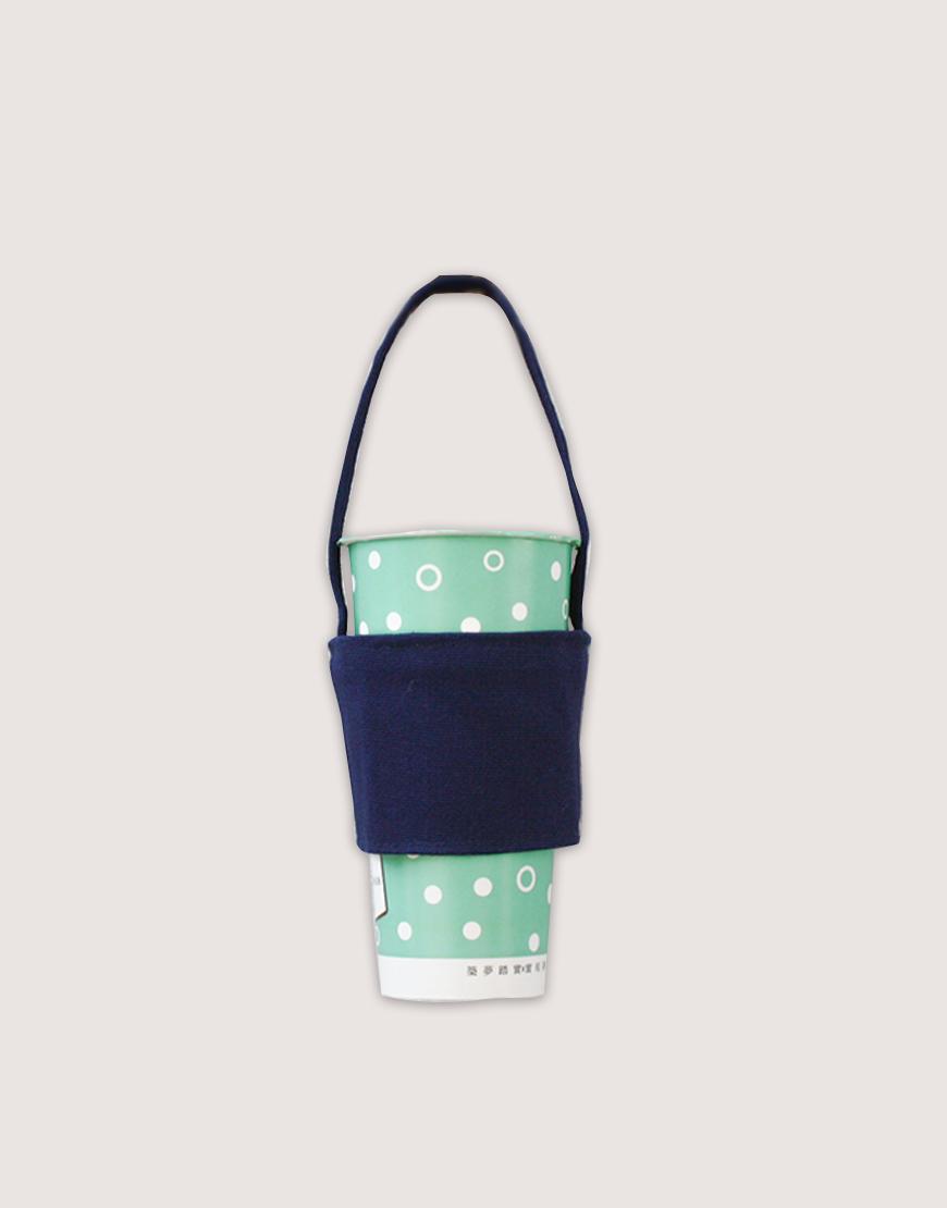 飲料提袋   12N雙層帆布   藍色