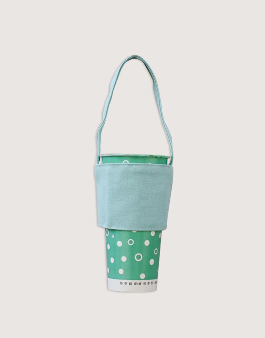 飲料提袋 | 12N雙層帆布 | 藍綠色