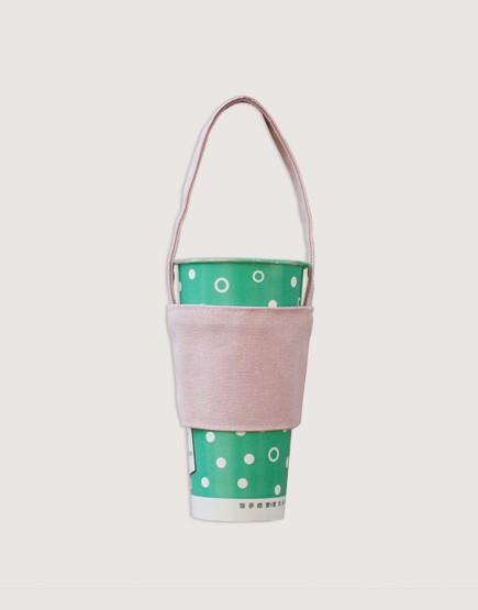 飲料提袋 | 12N雙層帆布 | 粉紅色