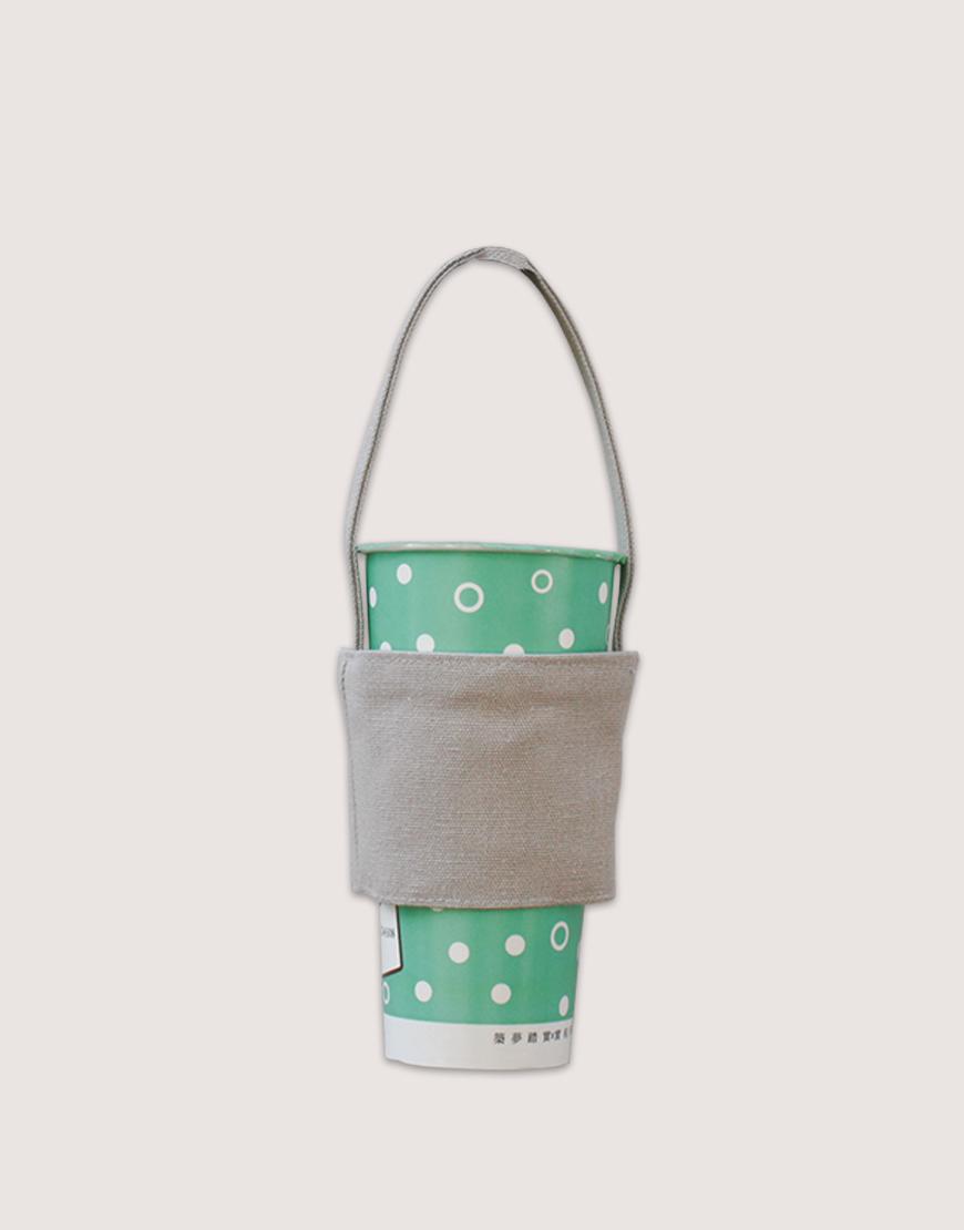 飲料提袋 | 12N雙層帆布 | 灰色
