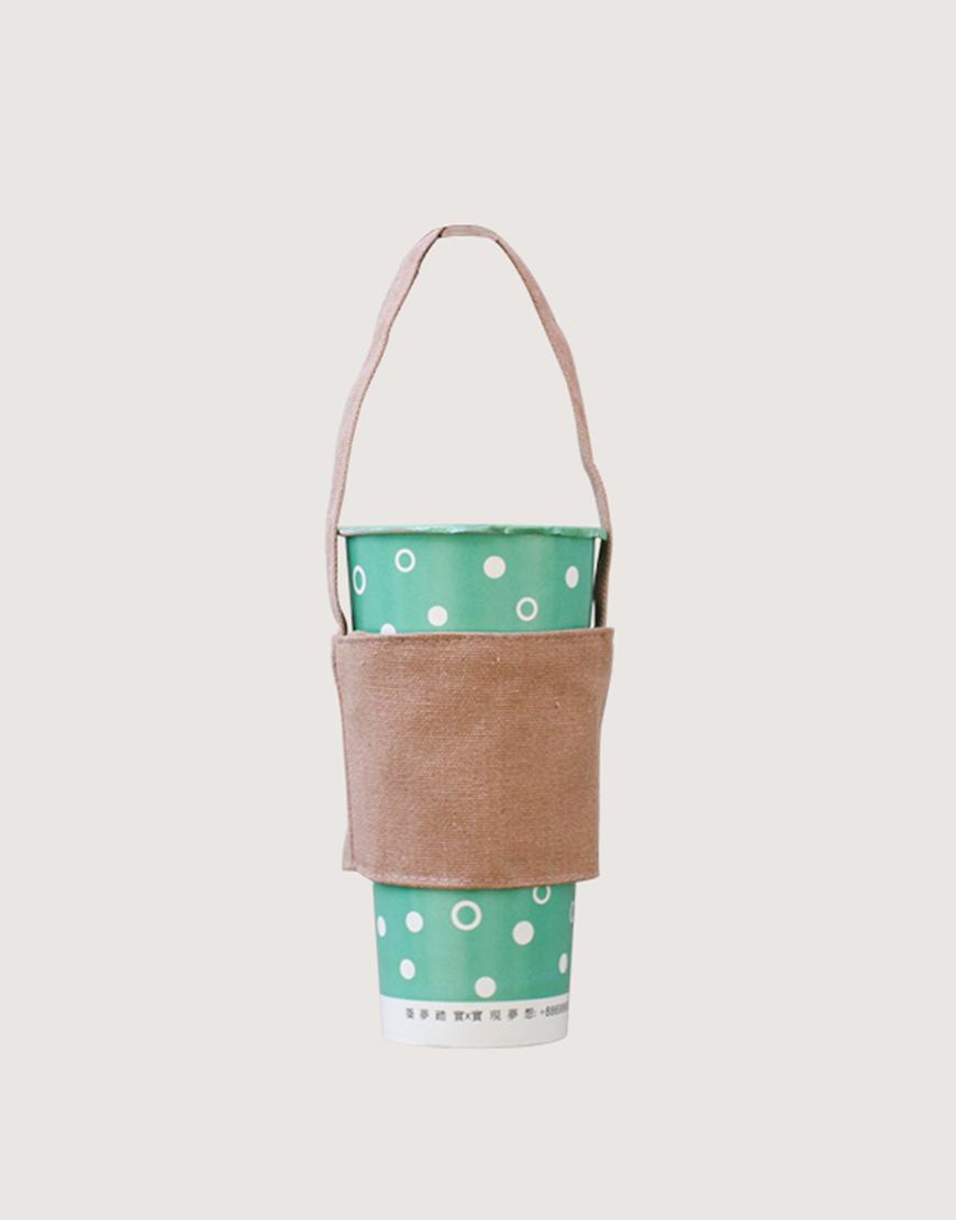 飲料提袋 | 12N雙層帆布 | 灰橘色