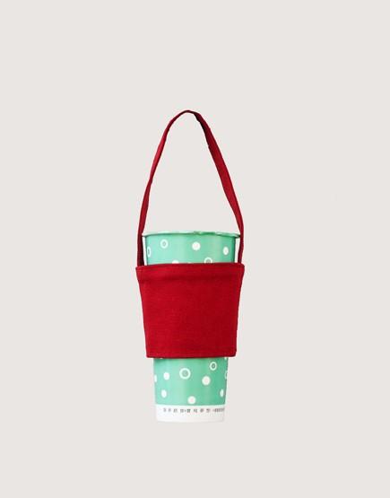 飲料提袋 |12N 雙層帆布 | 紅色