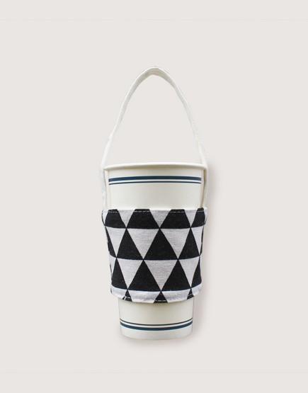 飲料提袋 | 帆布 | 三角黑