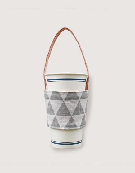 飲料提袋 | 雙層帆布 | 三角灰