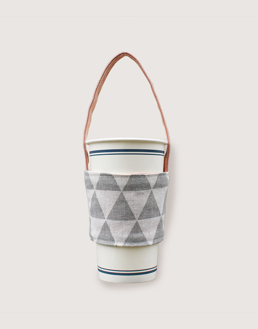 飲料提袋 | 12N雙層帆布 | 三角灰