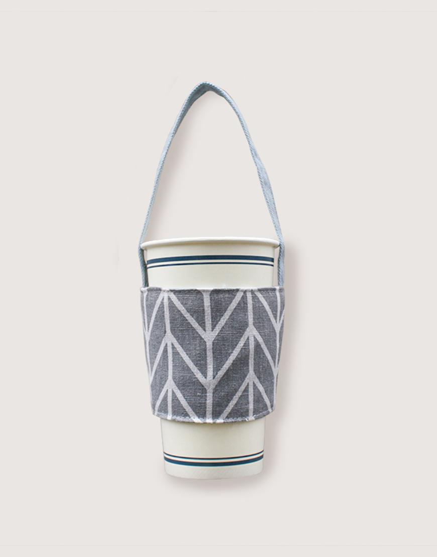 飲料提袋 | 12N雙層帆布 | 灰箭頭