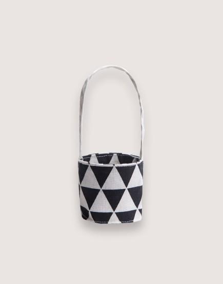 飲料提袋 | 12N雙層帆布 | 三角黑 | 雙面印花