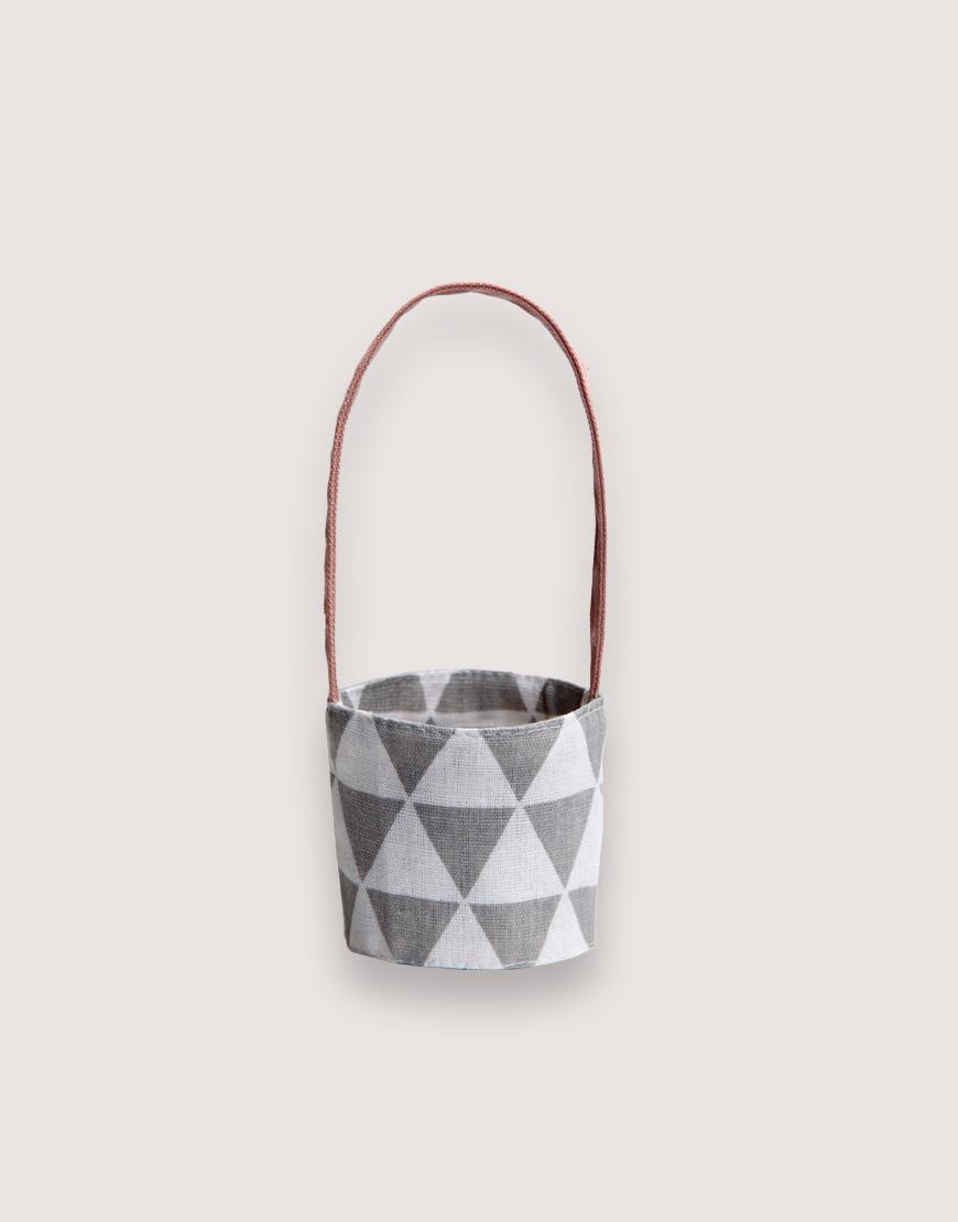 飲料提袋 | 12N雙層帆布 | 三角灰 | 雙面印花