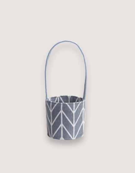 飲料提袋 | 12N雙層帆布 | 灰箭頭 | 雙面印花