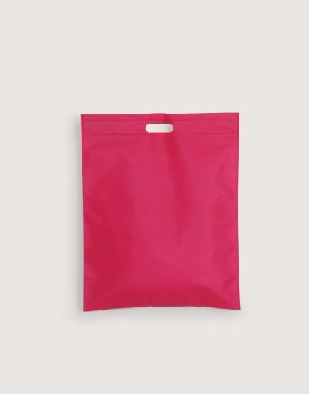不織布│直式沖口袋│桃紅色