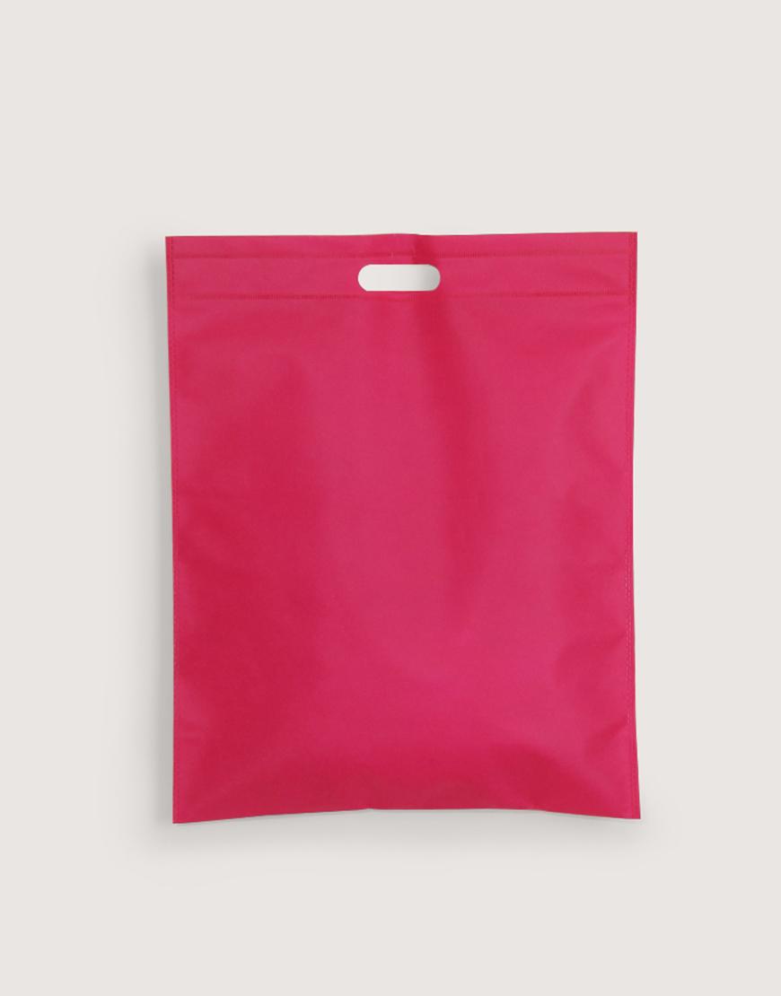 不織布│大號直式沖口袋│桃紅色
