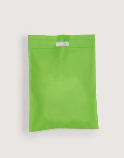 不織布│小號直式沖口袋│綠色