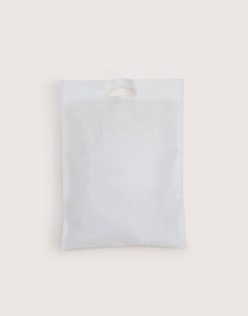 不織布│直式沖口袋│白色