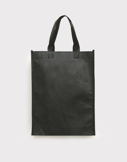 不織布直式袋│有底有側│黑色