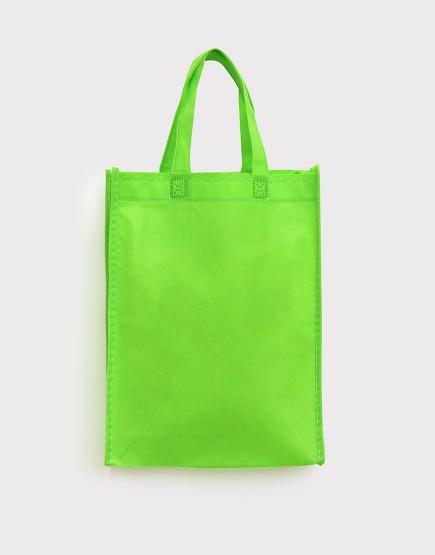 不織布直式袋│有底有側│果綠色