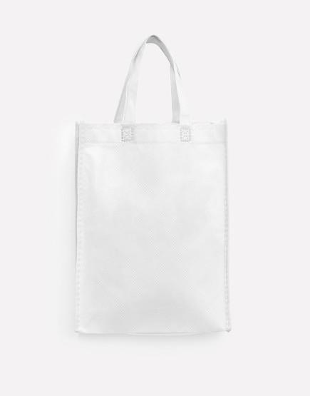 不織布直式袋│有底有側│白色