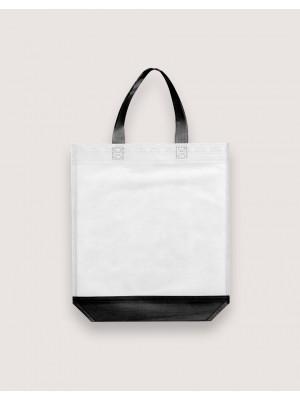 雙色不織布直式袋│有底無側│黑白