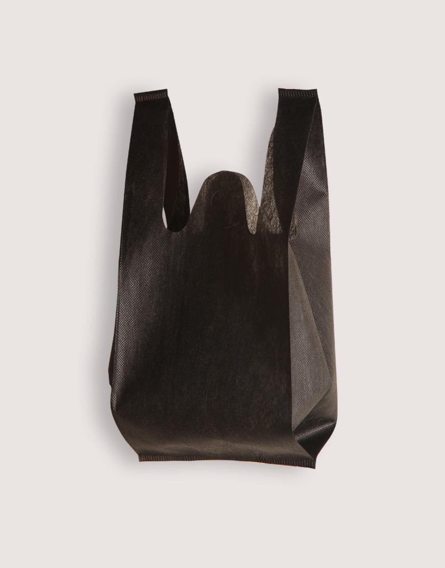 不織布│XS背心袋│1包50入 | 黑色