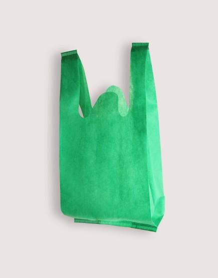 不織布│XS背心袋│1包50入 | 綠色