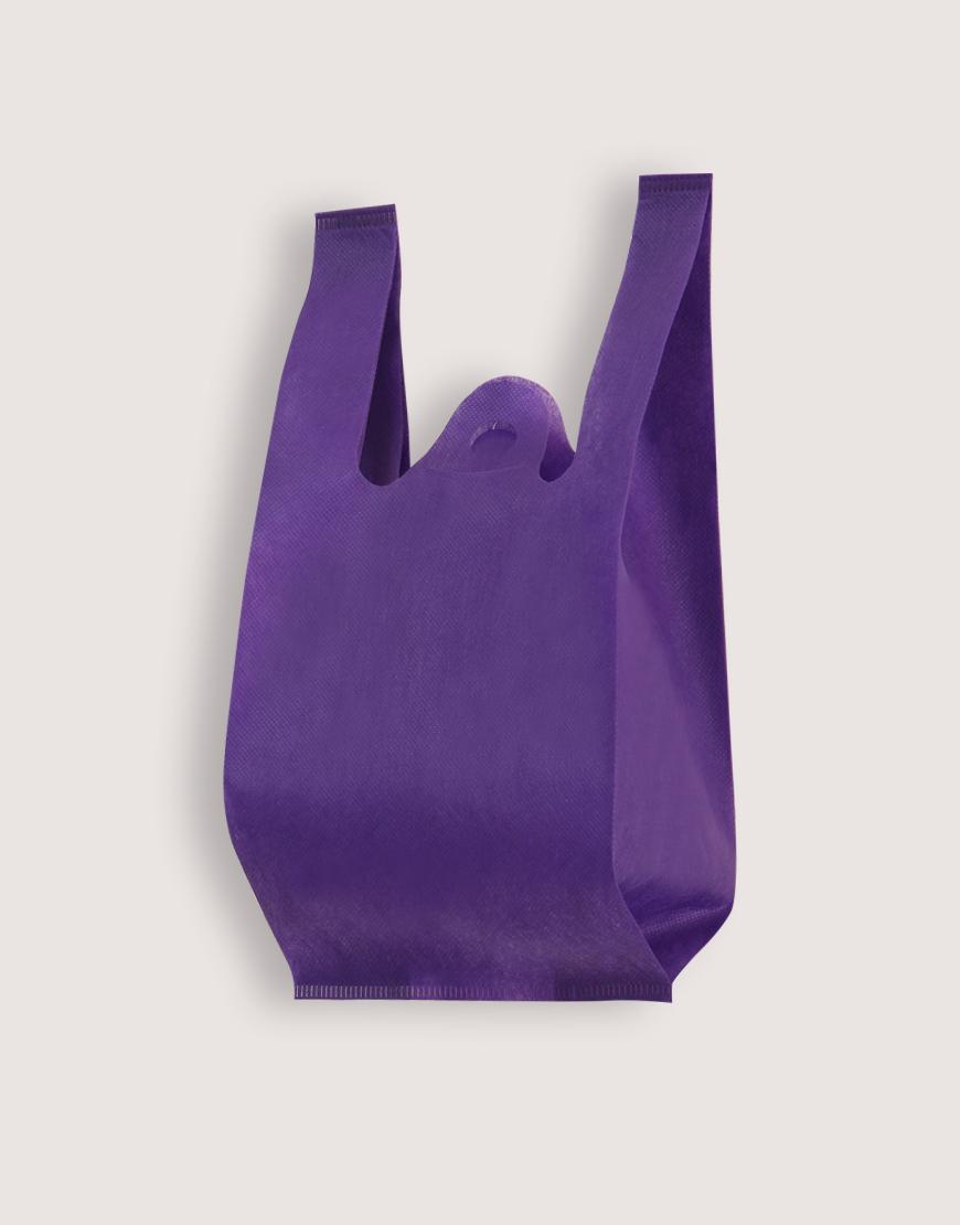 不織布│XS背心袋│1包50入 | 紫色
