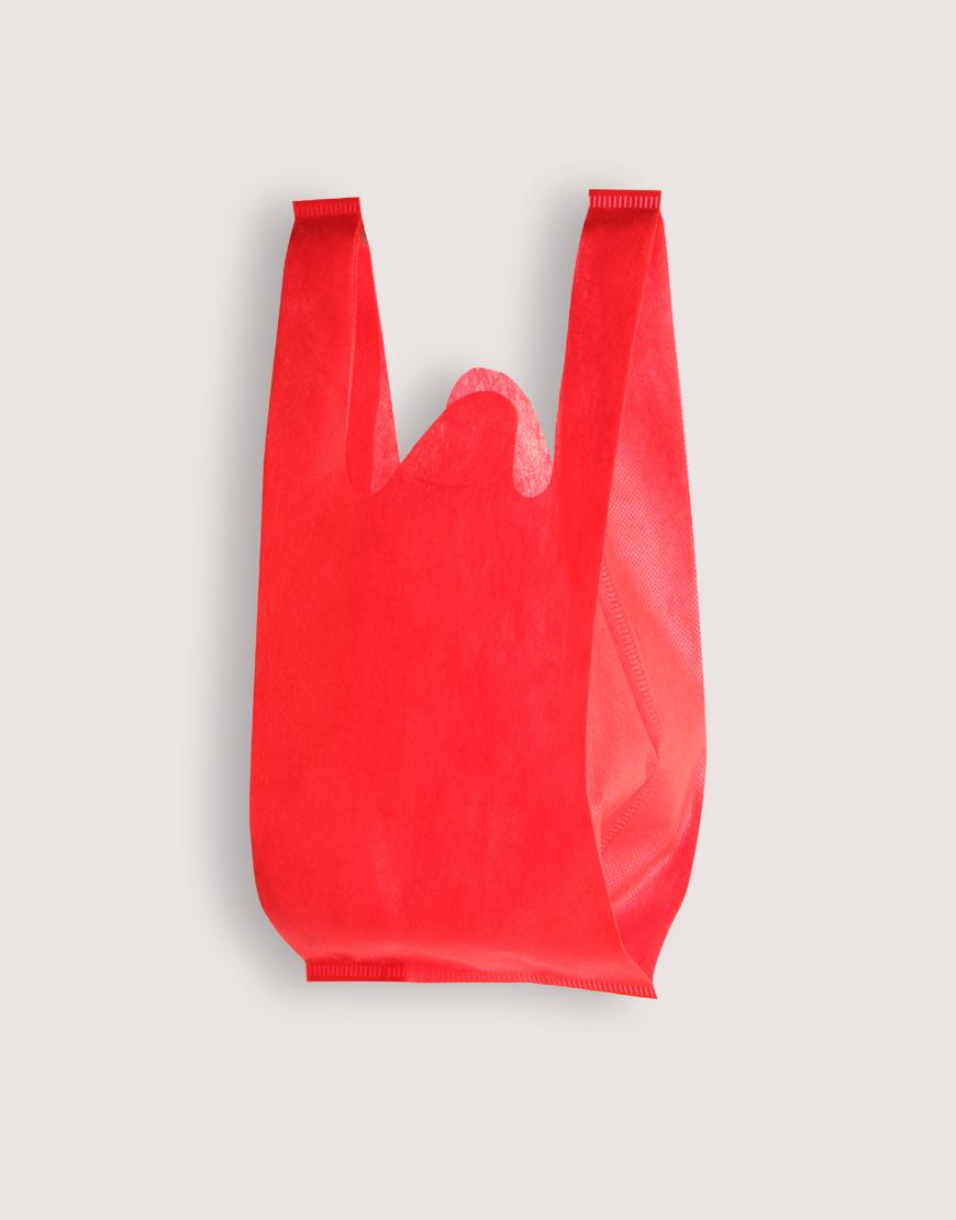 不織布│XS背心袋│1包50入 | 紅色