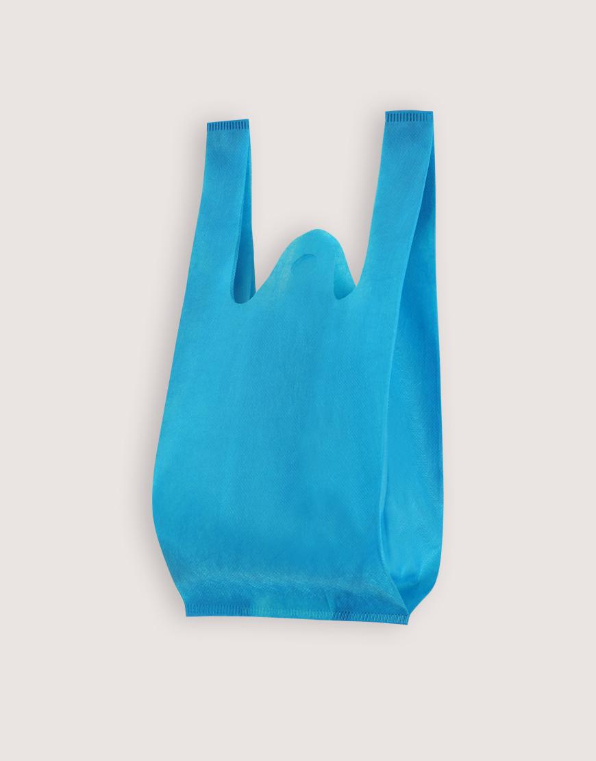不織布│XS背心袋│1包50入 | 天藍色