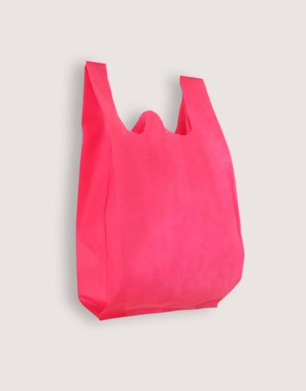不織布背心袋│1包50入 | 3種尺寸 |  桃紅色