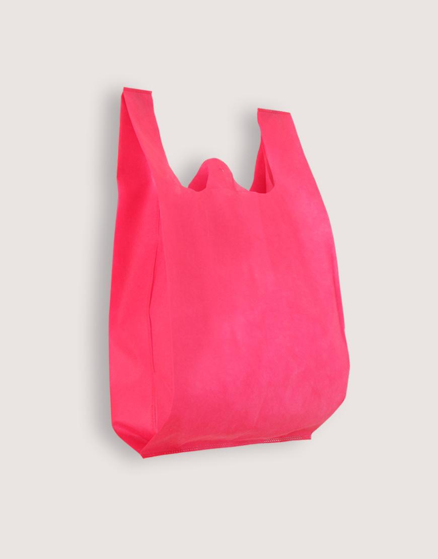 不織布背心袋│1包50入   3種尺寸    桃紅色