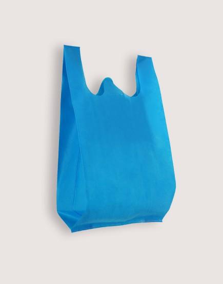 不織布背心袋│1包50入 | 3種尺寸 |  天藍色