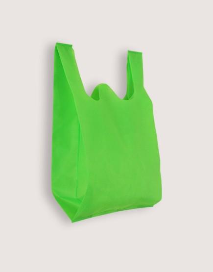 不織布背心袋│1包50入 | 3種尺寸 |  綠色