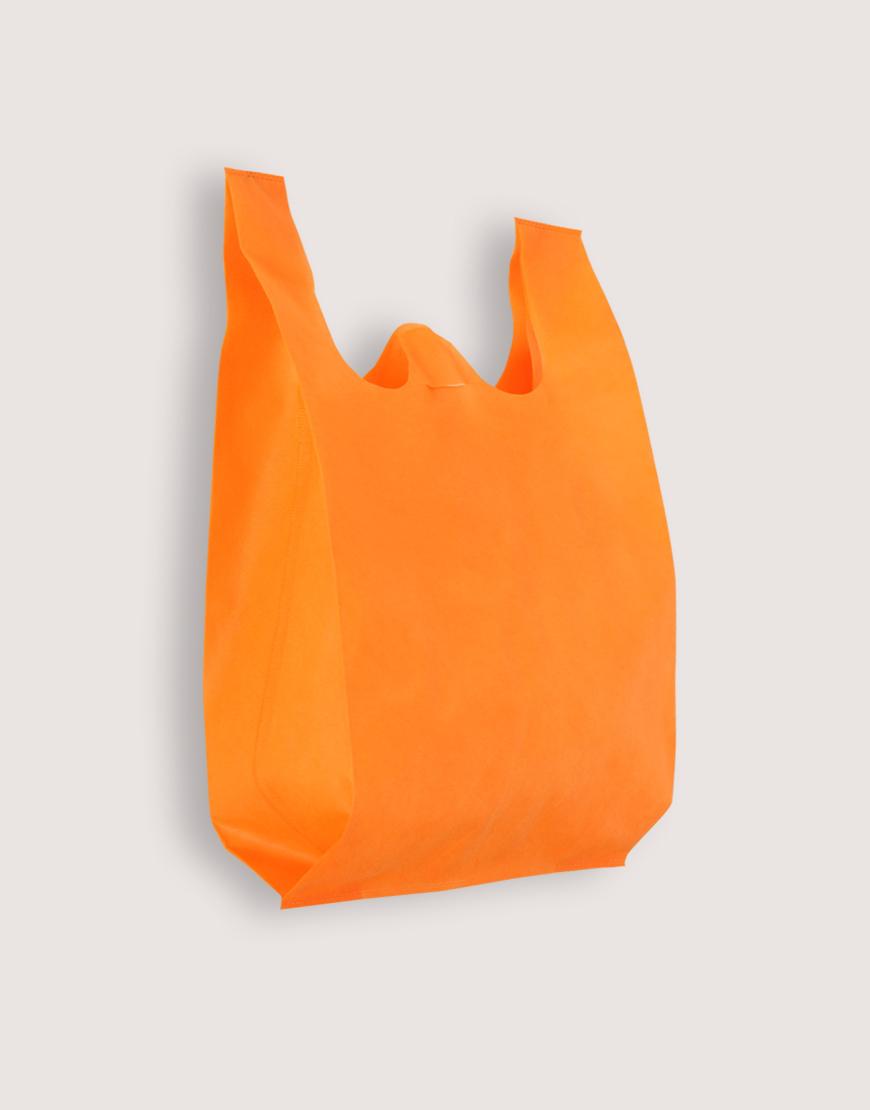 不織布背心袋│1包50入 | 3種尺寸 |  橘色