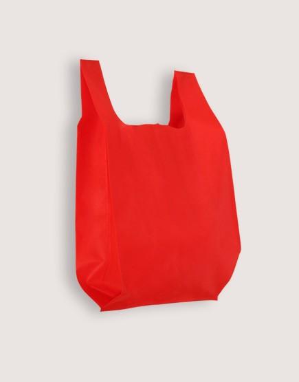 不織布背心袋│1包50入 | 3種尺寸 |  紅色