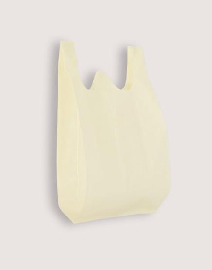 不織布背心袋│1包50入 | 3種尺寸 |  米白色