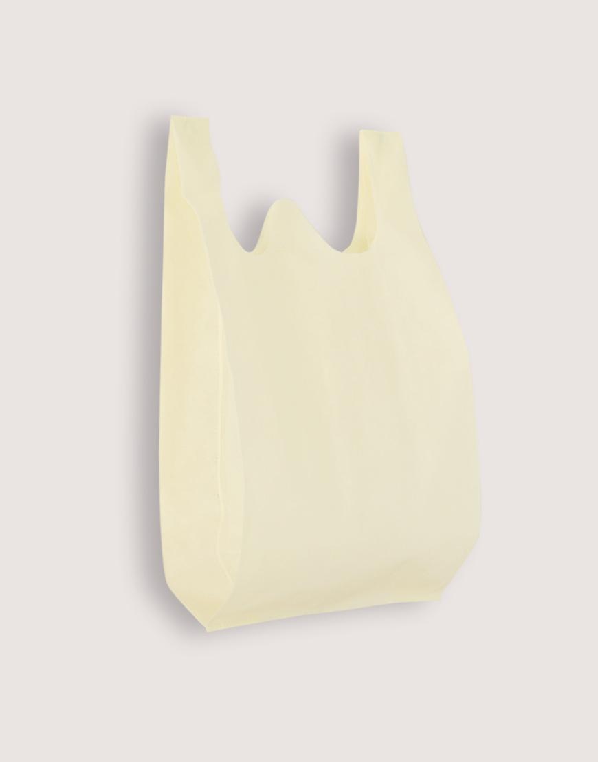 不織布背心袋│1包50入   3種尺寸    米白色